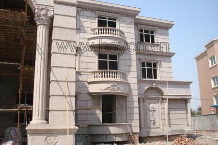 欧式石材雕刻 完成时间:2008年         欧式别墅外墙石材干挂雕刻
