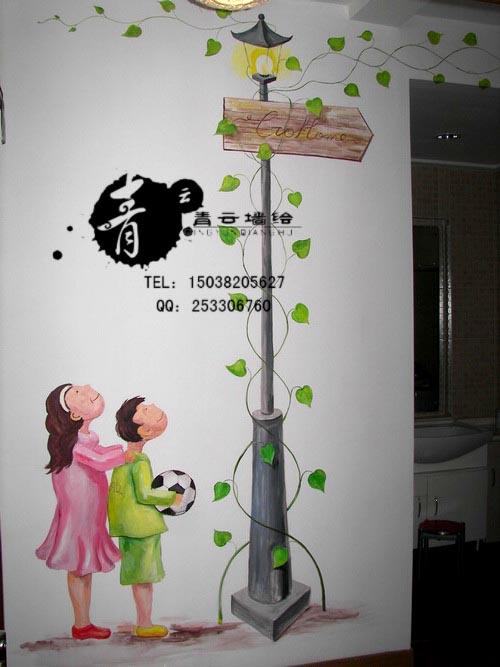郑州墙绘郑州手绘墙画郑州青云墙面彩绘-建材企业会员