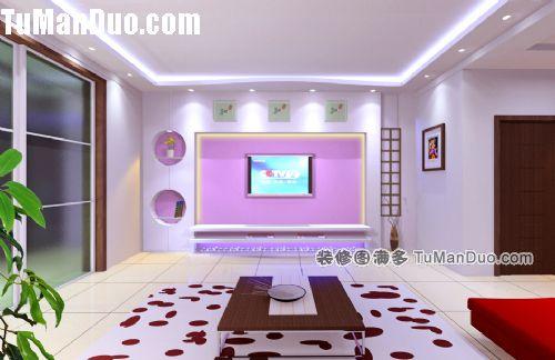 客厅电视背景墙图片-大庆德高装饰公司的设计师家园