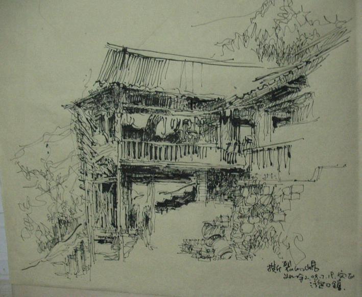 農村樓房設計圖片大全素描圖片
