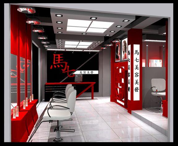 郑州美发店 理发店 发廊装修咨询中心高清图片