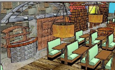 北京主题餐厅设计-室内设计 装修设计 北京森林装饰的