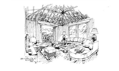 别墅的素描画法步骤教学图片