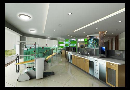北京牙科诊所设计装修-室内设计