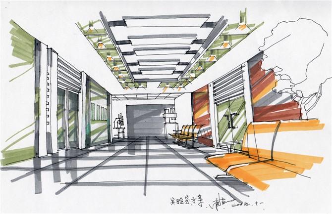 学室内手绘建筑速写差不多一年了.透视中式做不准确怎么办.