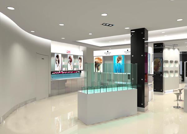 郑州美容院装修-河南维森装饰设计工程有C4D室内设计显然设置效果图片